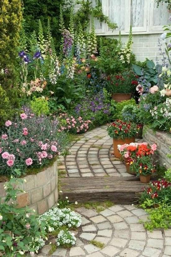 Enfeites e decoração de jardim