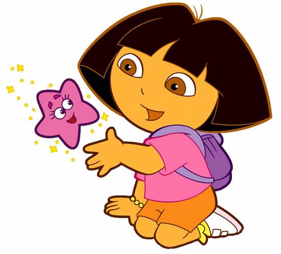 Desenho colorido da Dora Aventureira