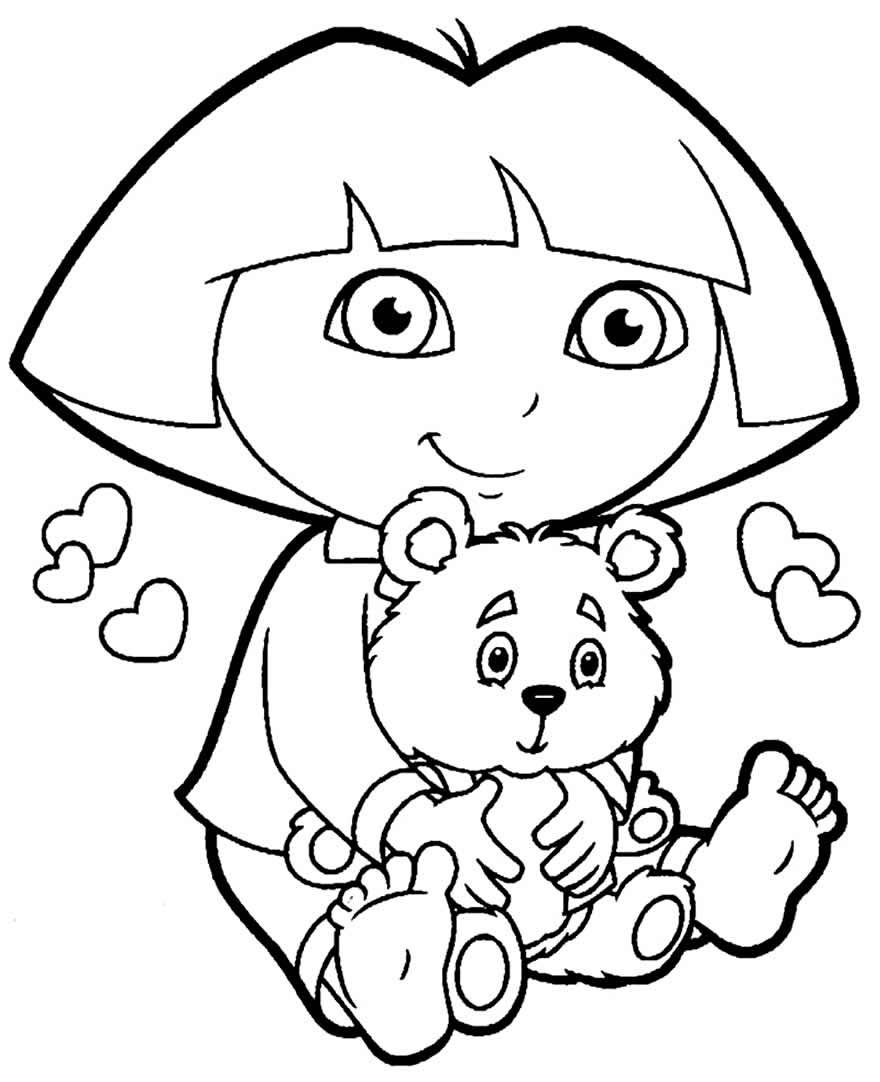 Desenho da Dora Aventureira para colorir