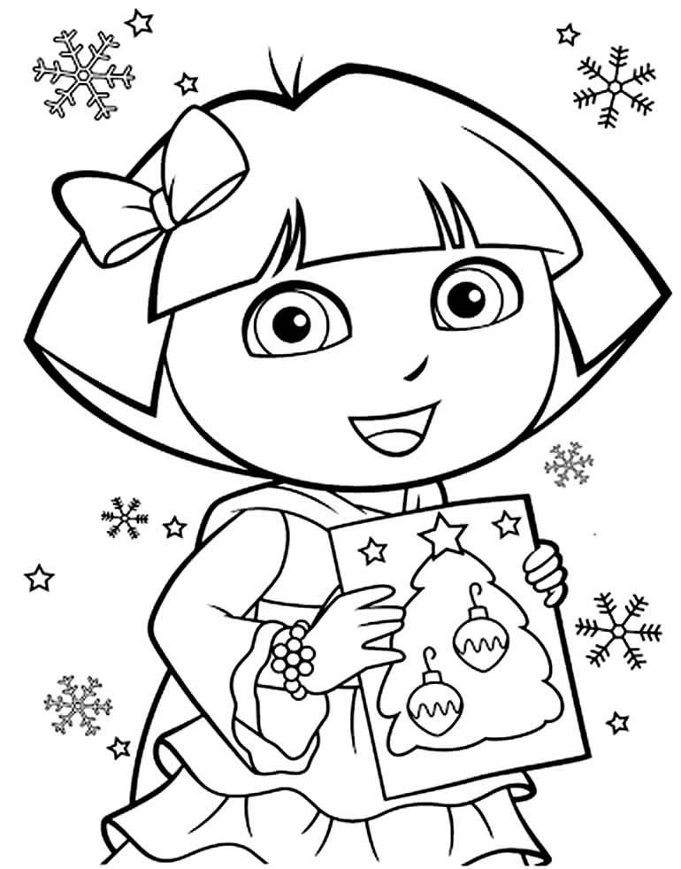 Imagem da Dora Aventureira para colorir