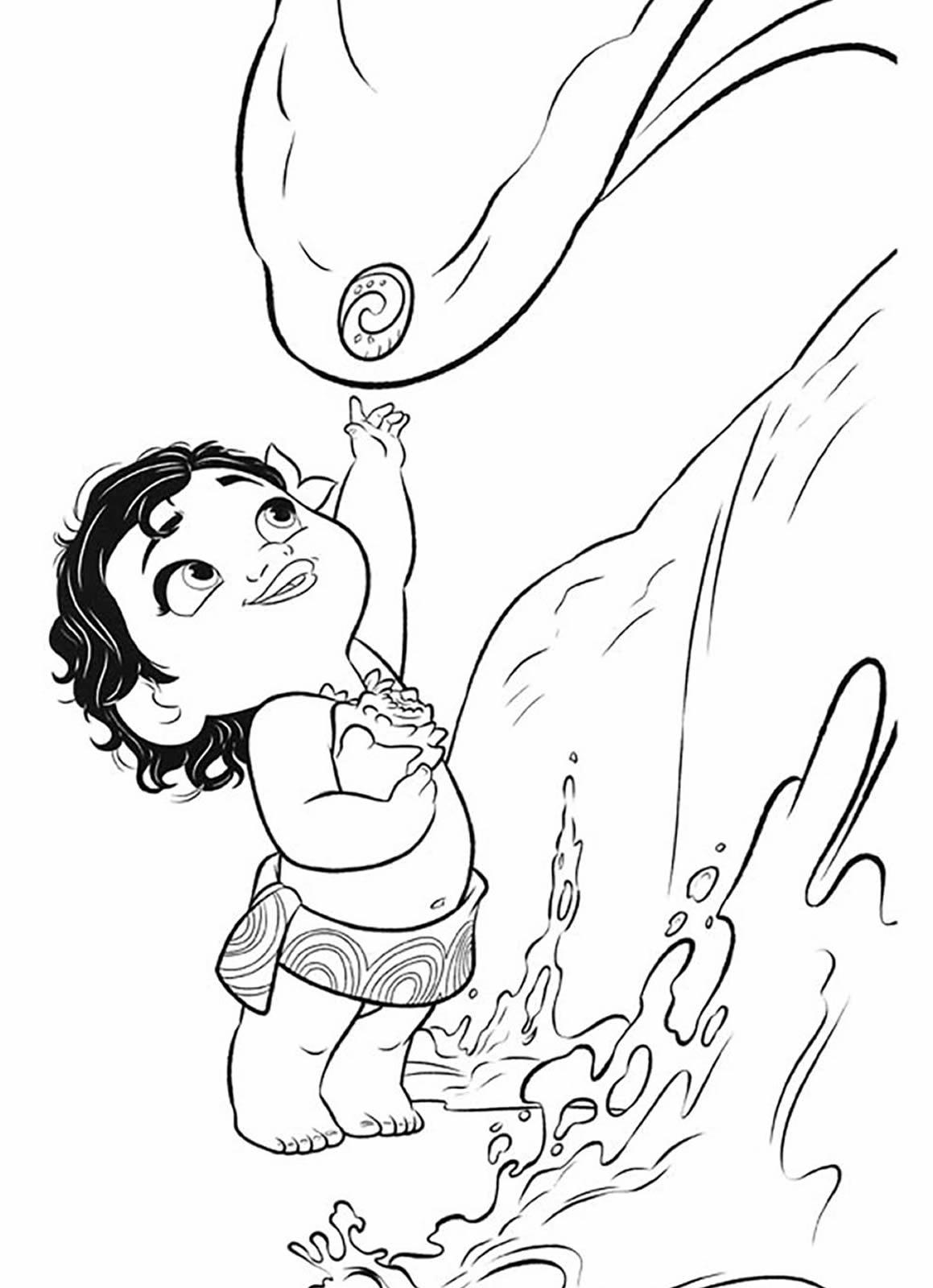 Desenho para colorir da Moana