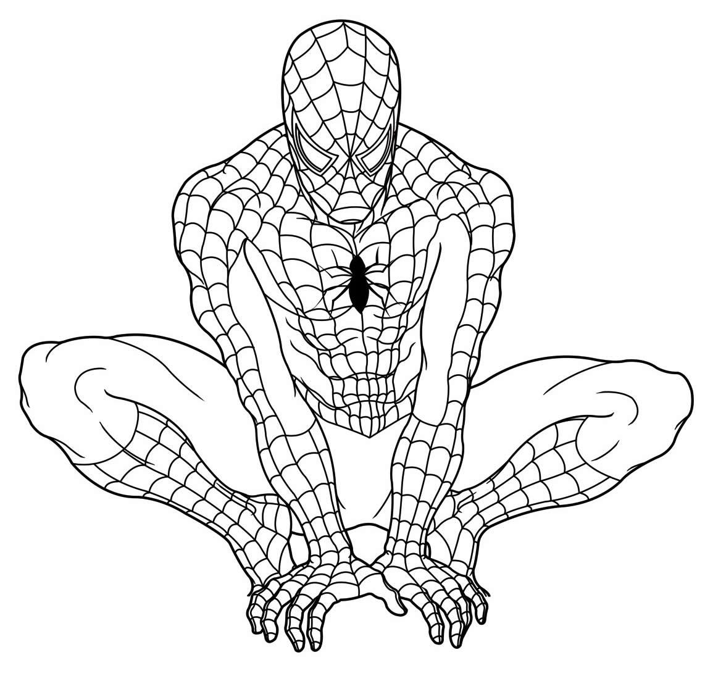 Desenho de Homem-Aranha para pintar
