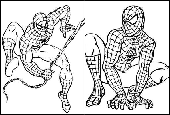 Desenhos de Homem-Aranha para colorir