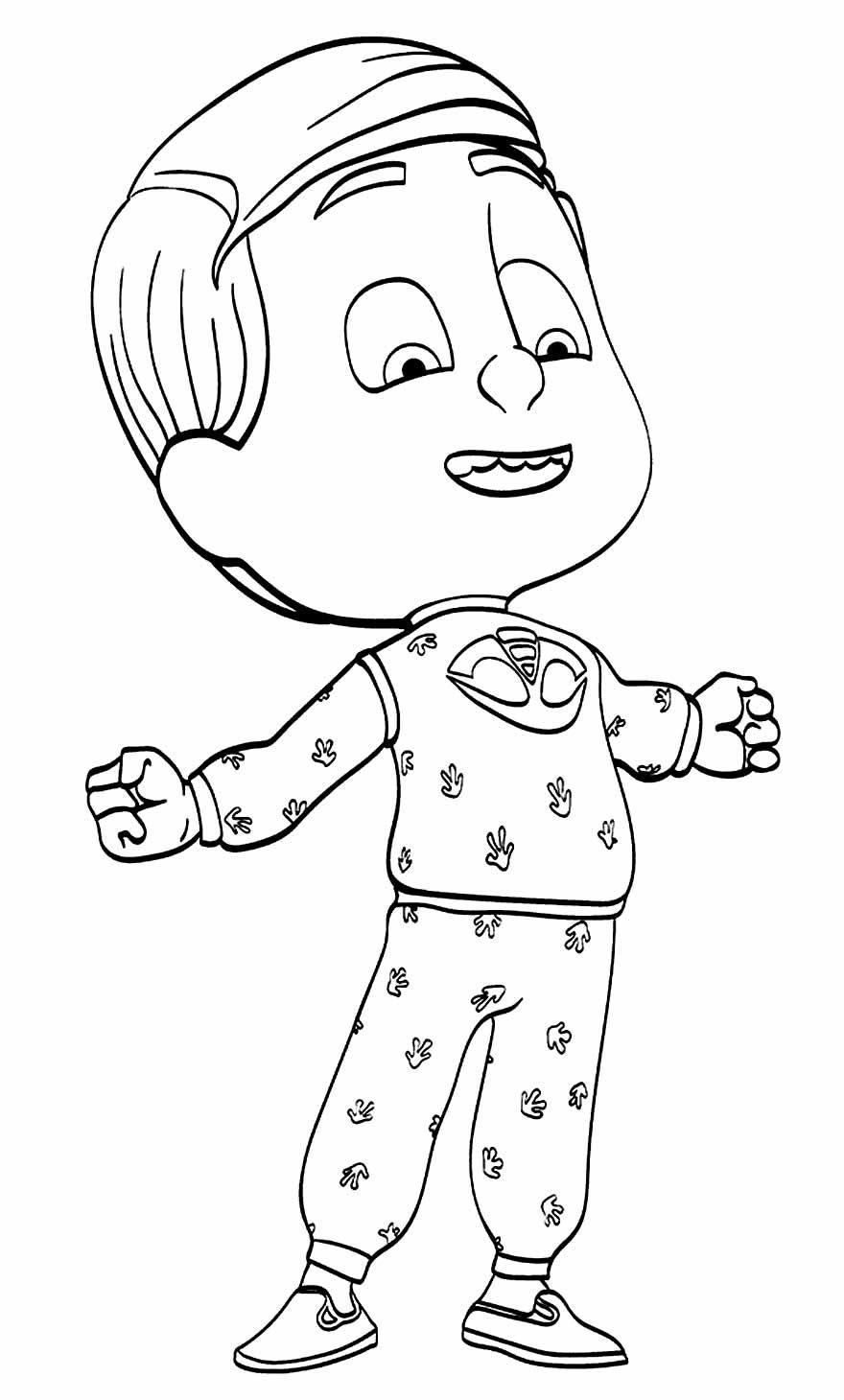 Desenho de PJ Masks para pintar