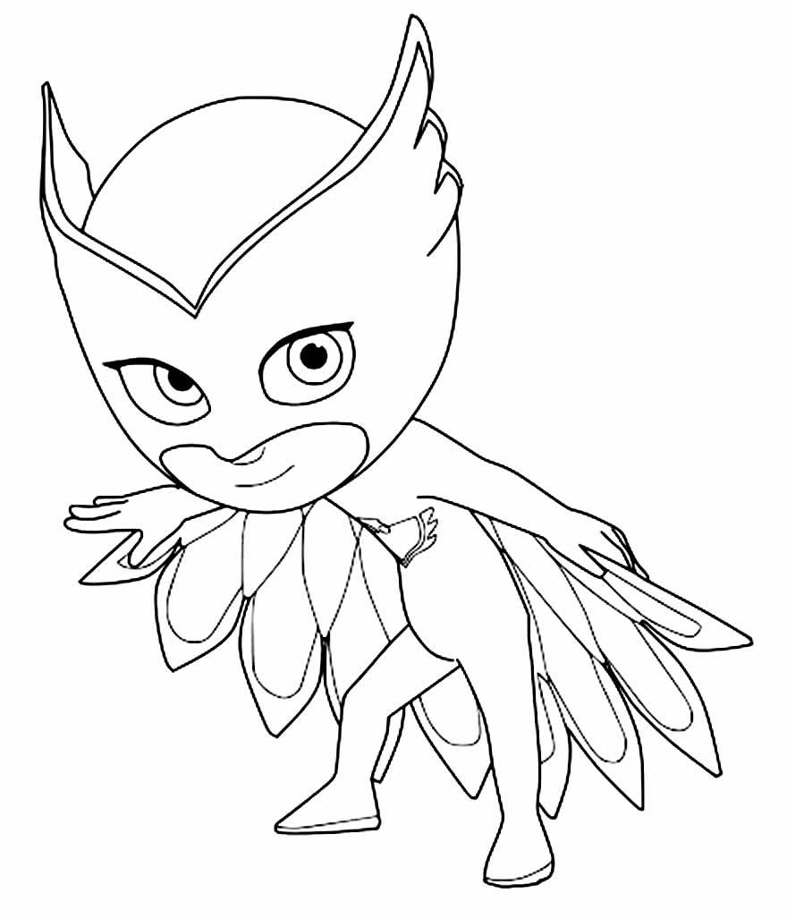 Desenho de PJ Masks para colorir