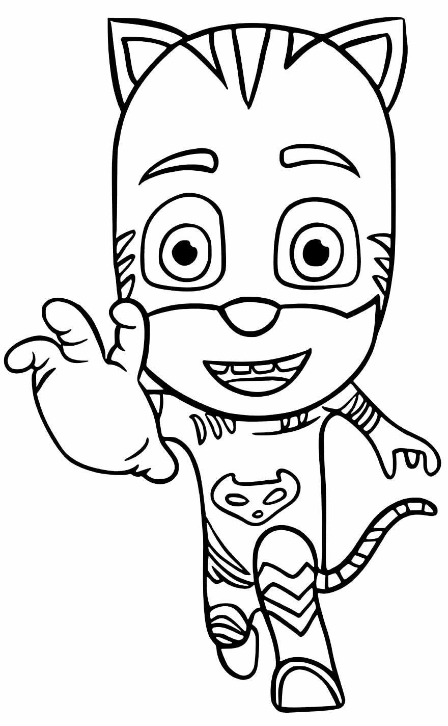 Desenho para colorir de PJ Masks