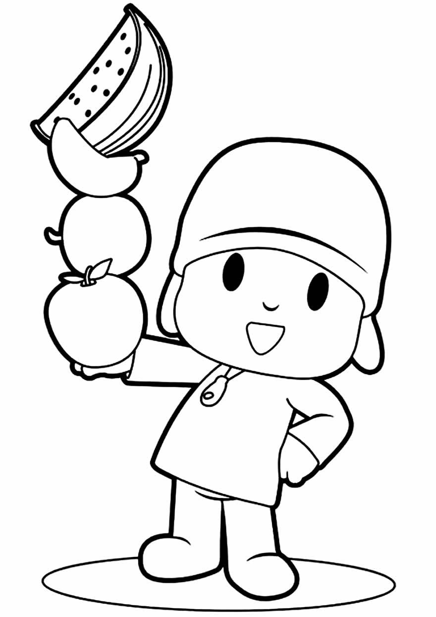 Imagem para imprimir e colorir do Pocoyo