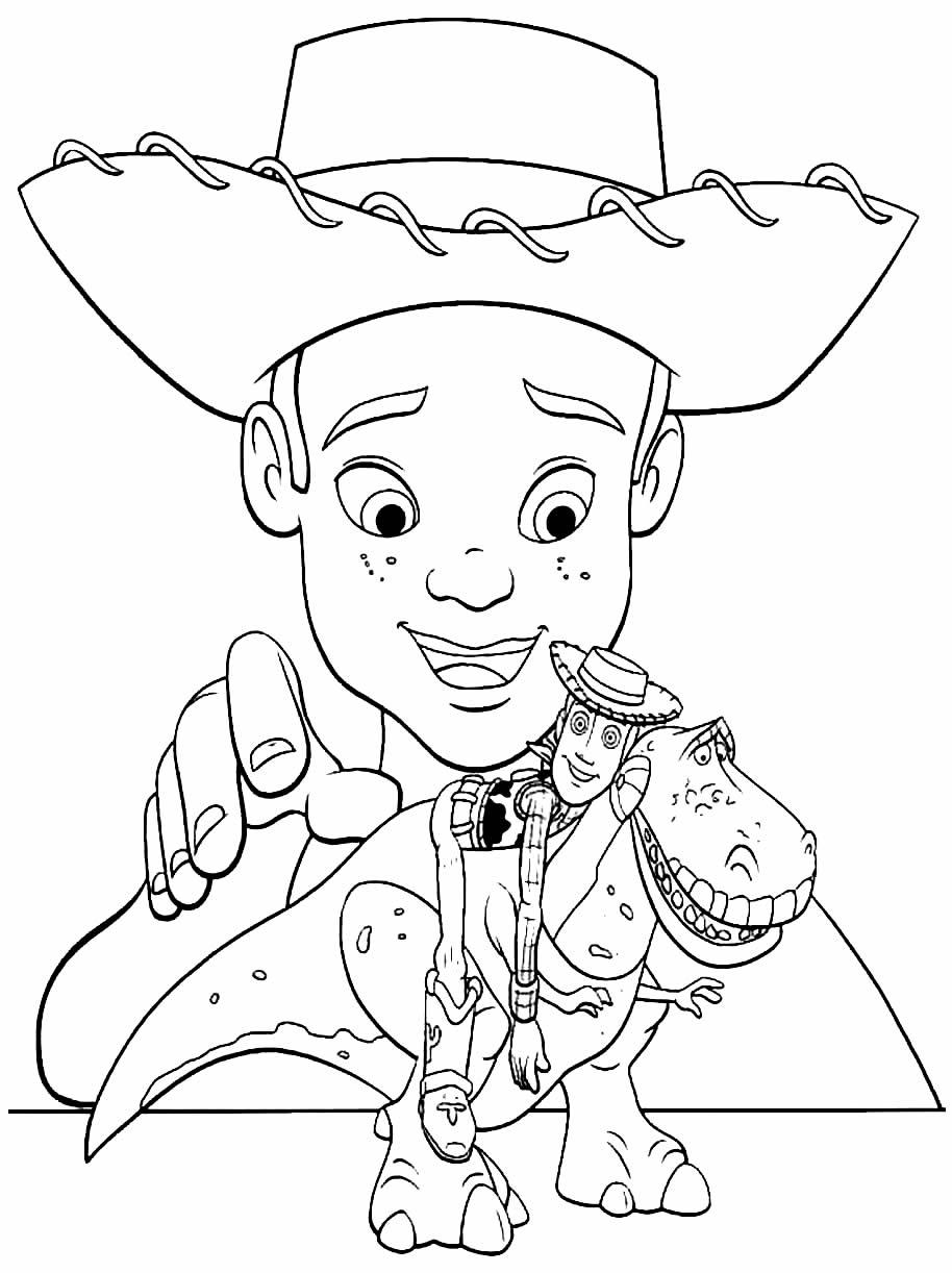 Imagem do Toy Story para colorir