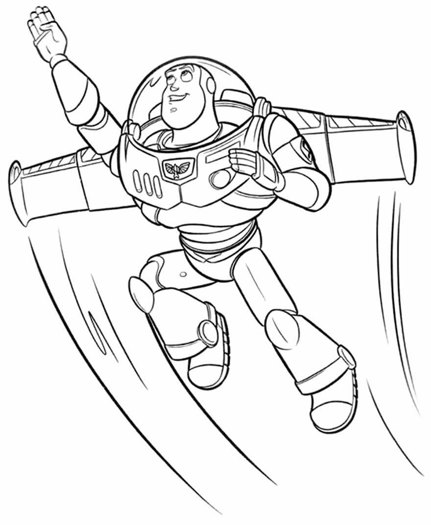 Desenho do Toy Story para pintar