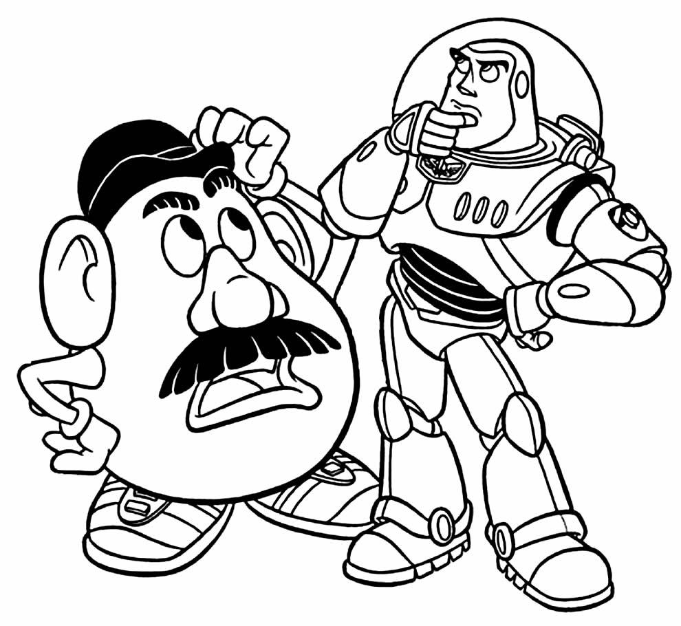 Imagem do Toy Story para pintar