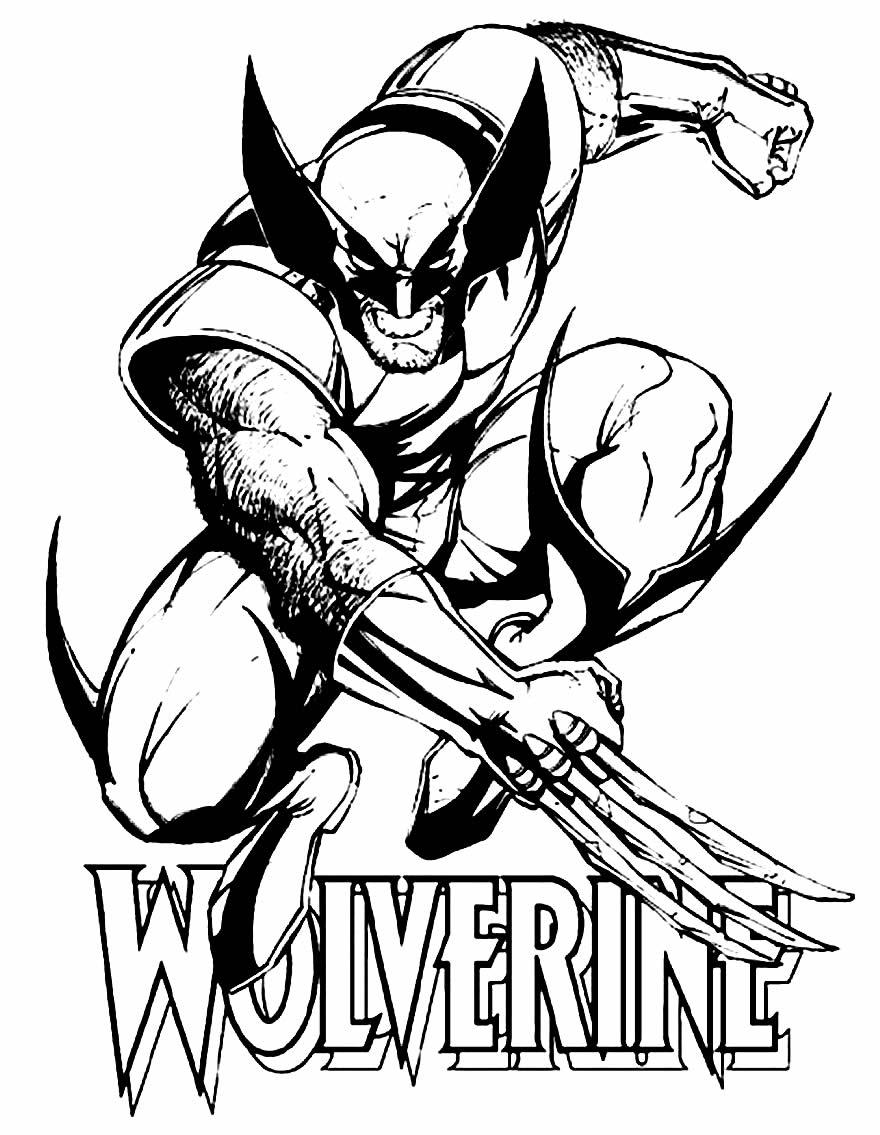 Desenho do Wolverine para pintar