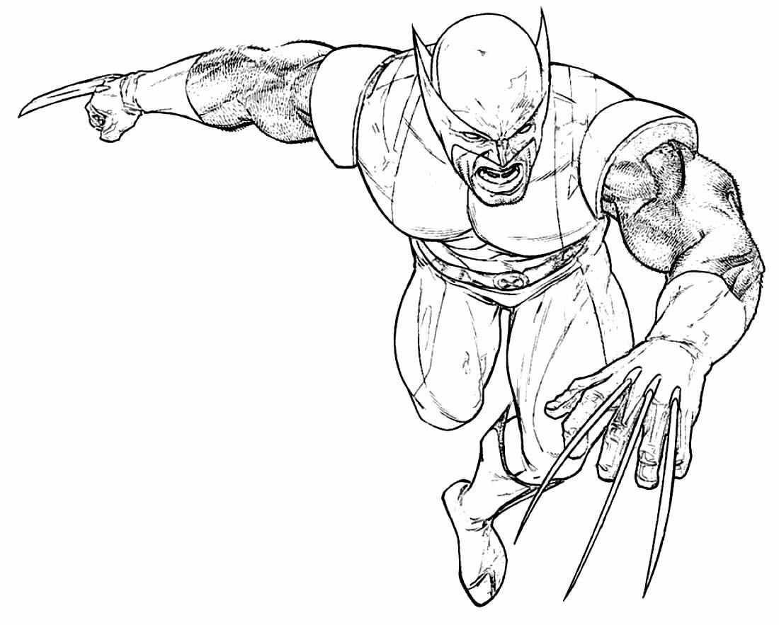 Desenho do Wolverine para colorir