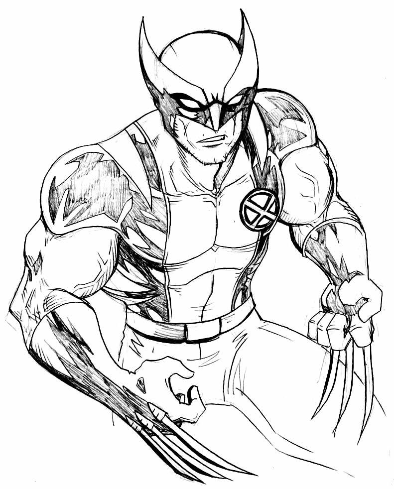 Imagem do Wolverine para colorir
