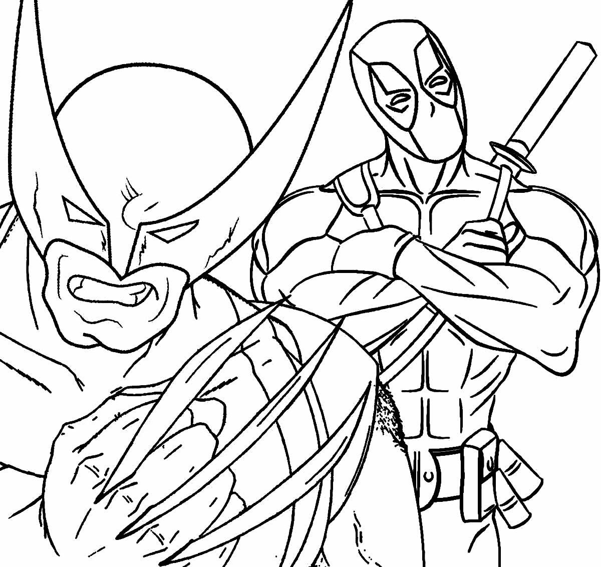 Imagem do Wolverine para pintar