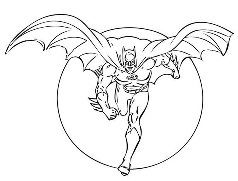 Molde do Batman para colorir