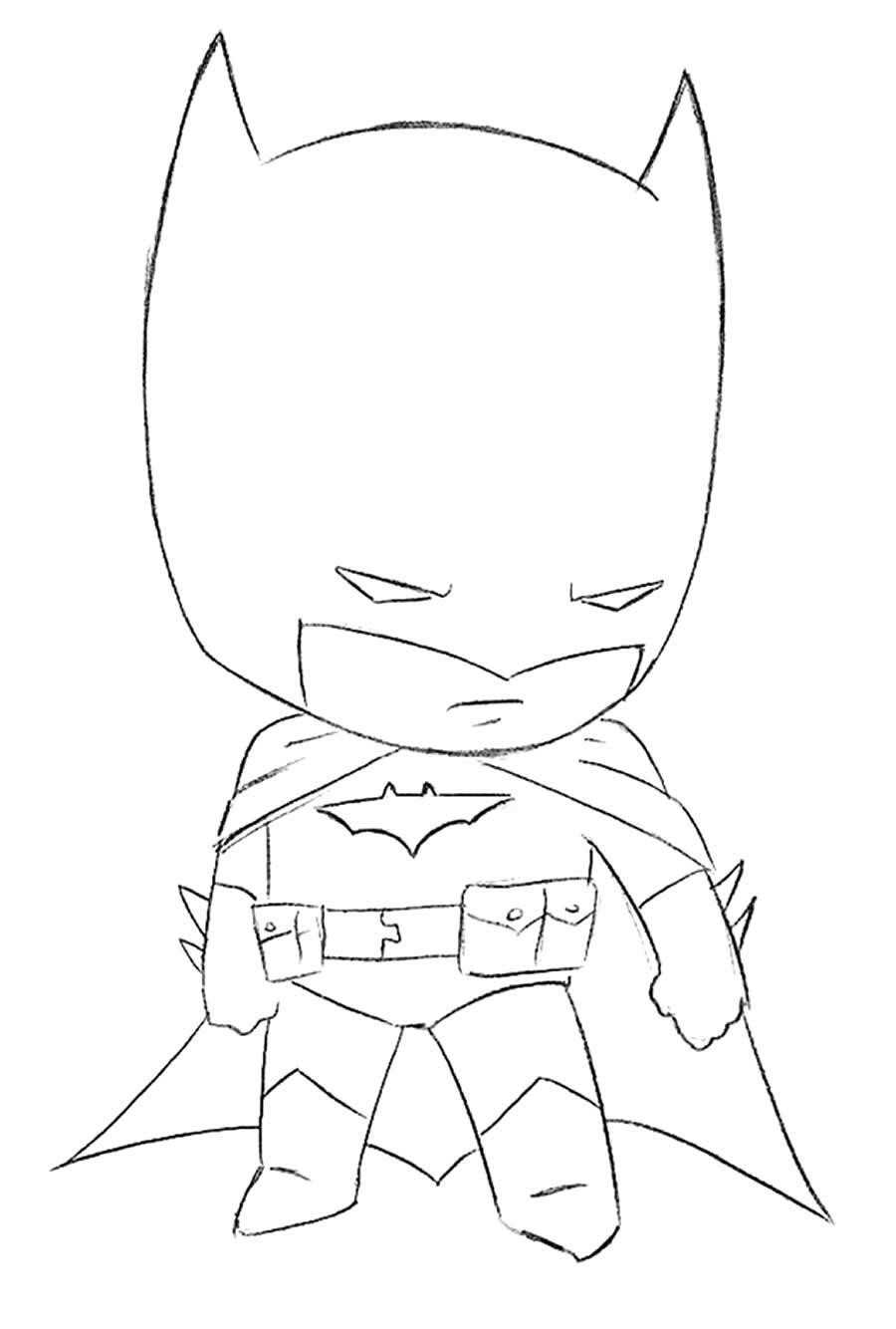 Desenho do Batman para pintar