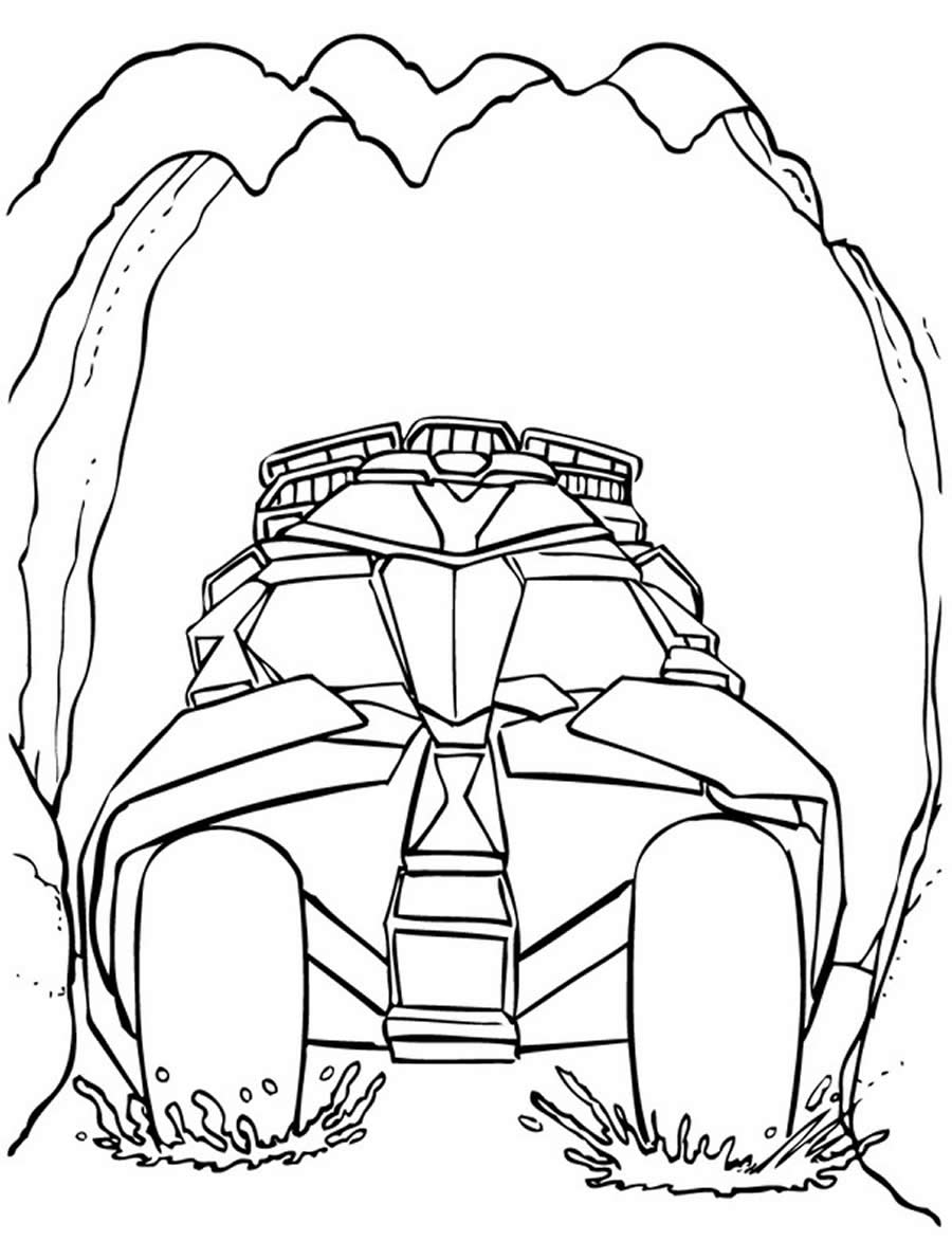 Desenho do Batmóvel para colorir