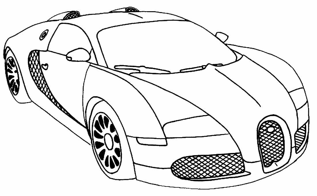 Desenho para pintar de carro de corrida