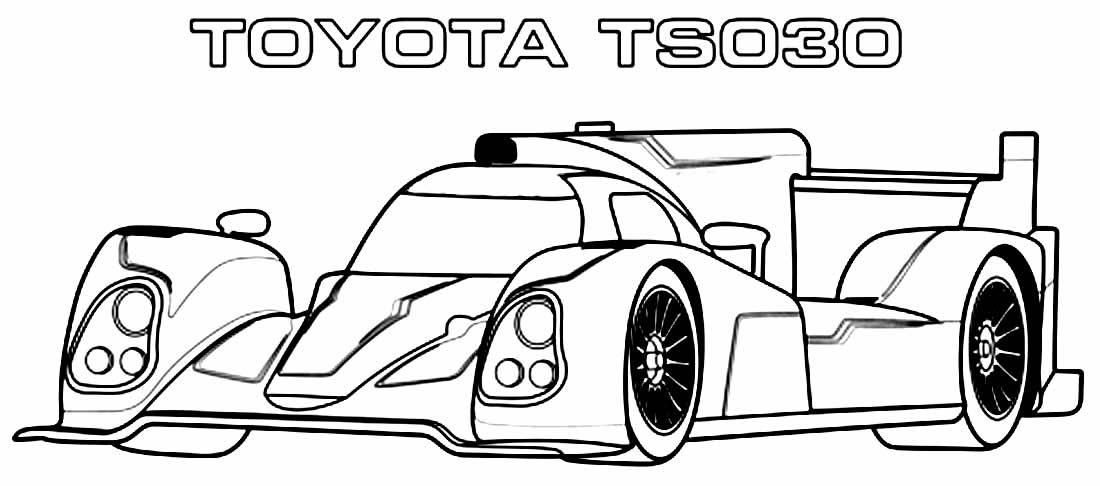 Desenho de carro de corrida - Toytoa