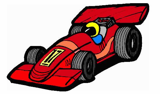Desenho para imprimir de carro de corrida