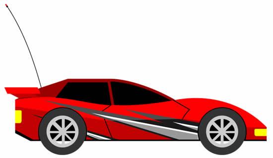 Desenho de carro de corrida