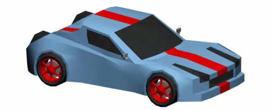 Molde de carro de corrida