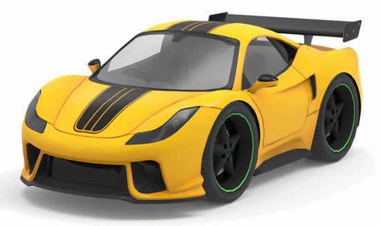 Desenho colorido de carro de corrida