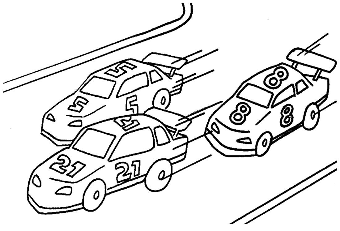 Atividades infantis para colorir com carros