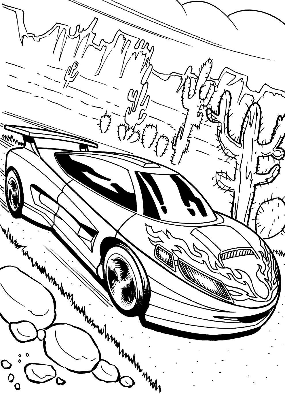 Atividades para colorir com carros de corrida