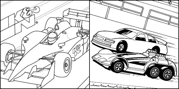 Desenhos de carros de corrida para colorir