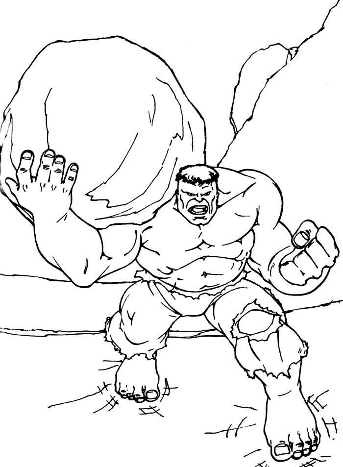 Imagem de Hulk para colorir