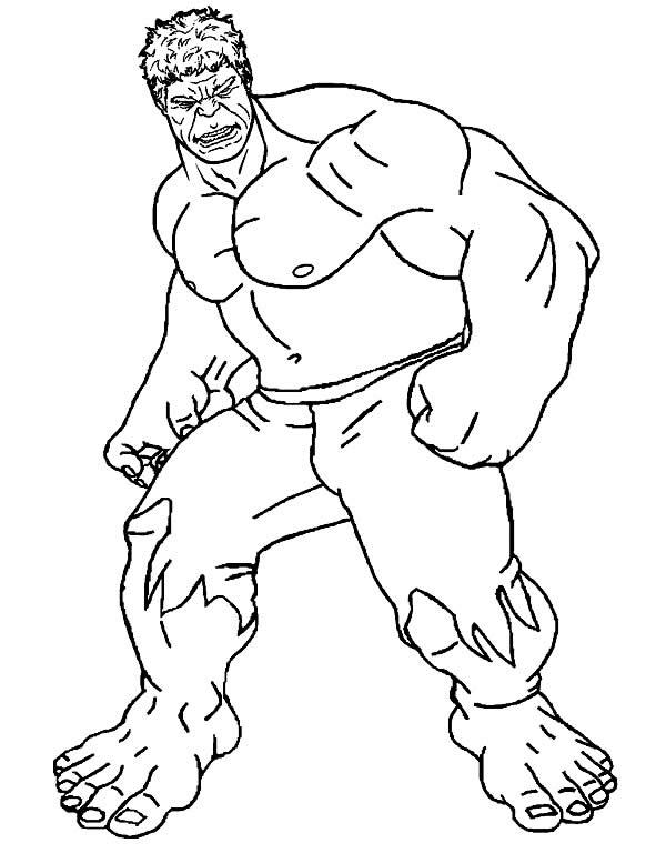 Desenho de Hulk para imprimir e colorir