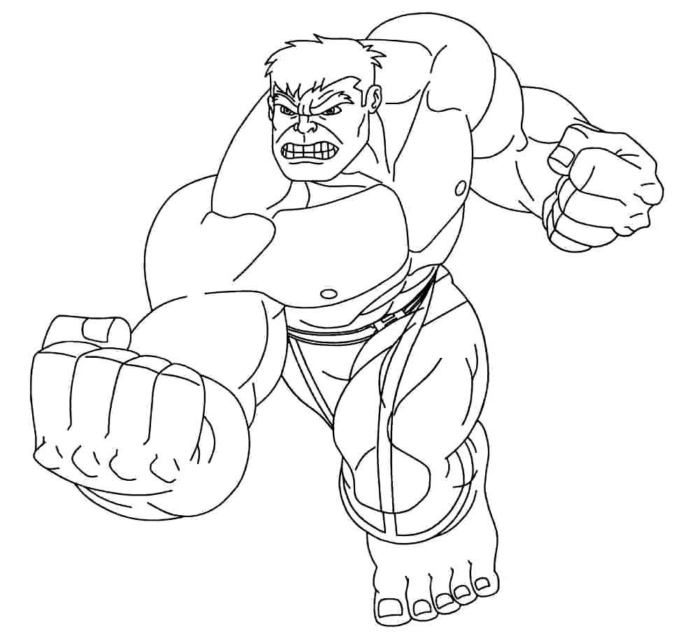 Desenho de Hulk para pintar
