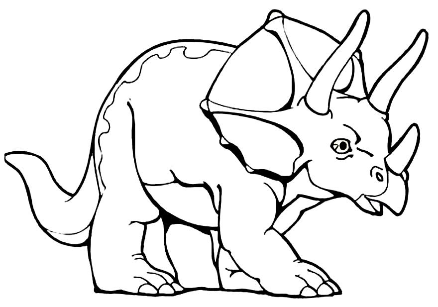 Imagem de dinossauro para colorir