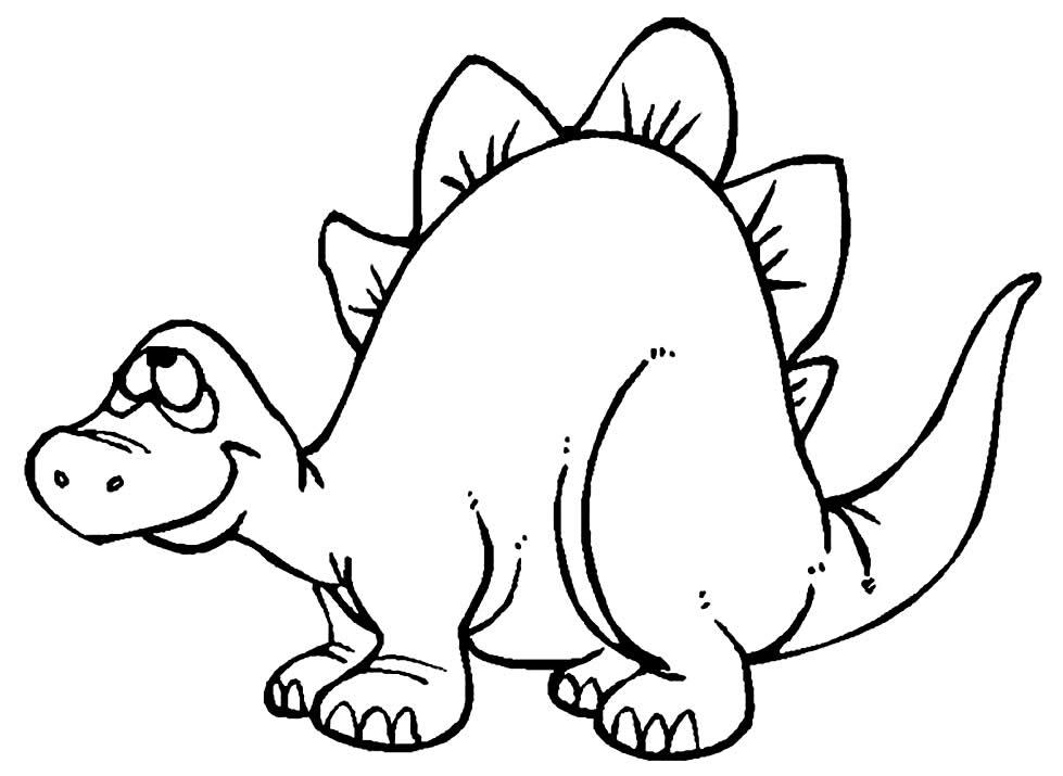 Imagem de dinossauro para pintar