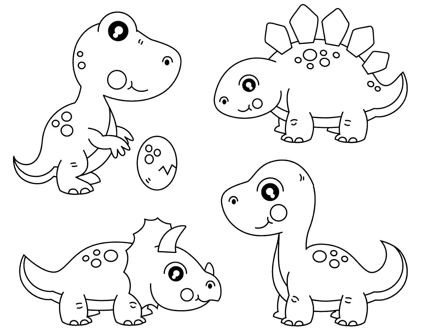 Moldes de dinossauro para píntar