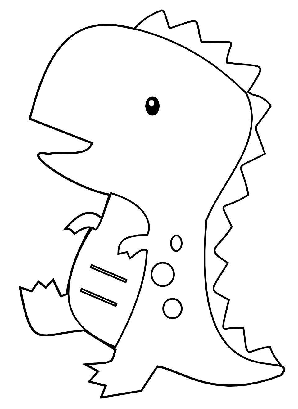 Imagem de dinossauro para píntar