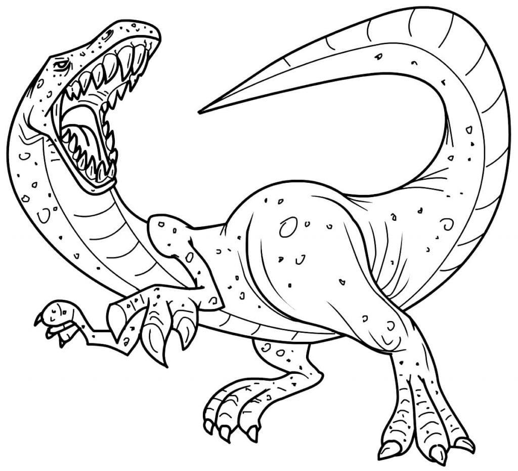 Desenho de dinossauro para píntar