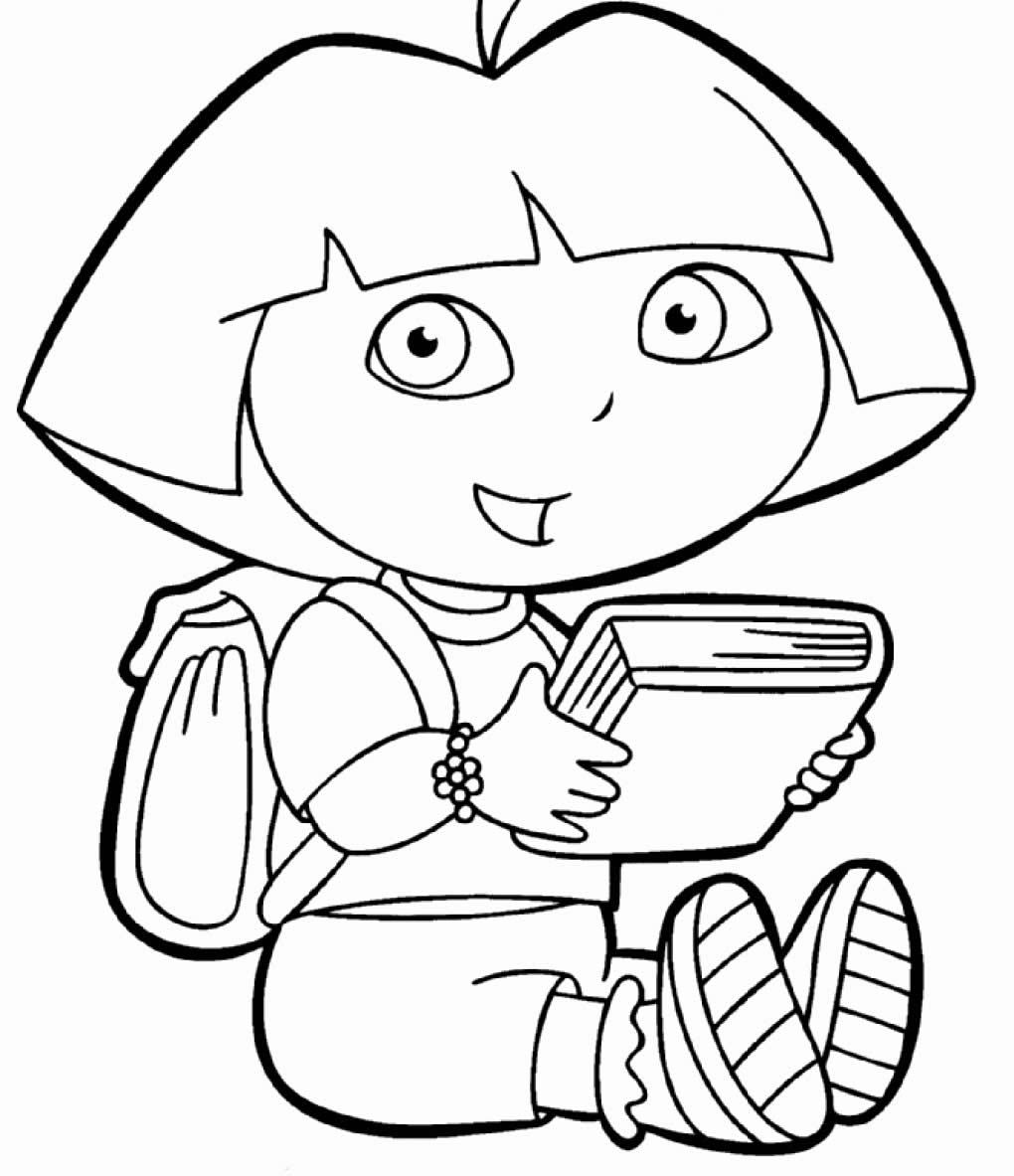 Desenho de Dora Aventureira para colorir