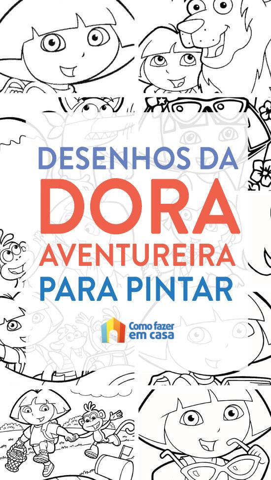 Desenhos de Dora Aventureira para pintar e colorir