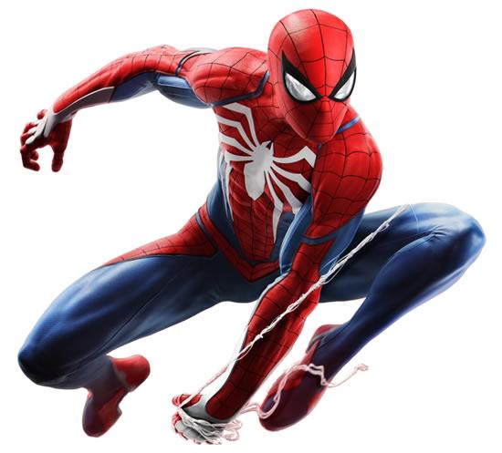 Desenho colorido do Homem-Aranha