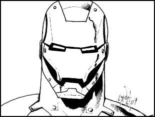 Desenhos de Homem de Ferro para pintar