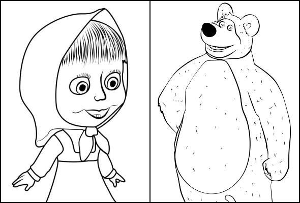 Desenhos De Masha E O Urso Para Colorir Como Fazer Em Casa