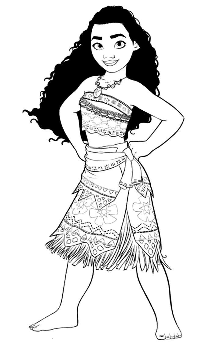 Imagem de Moana para colorir