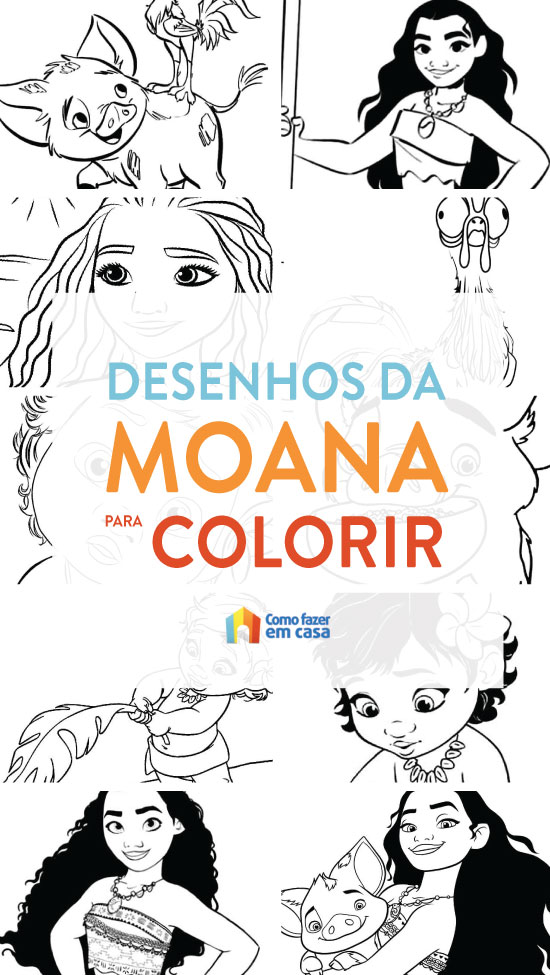 Desenhos de Moana para pintar e colorir