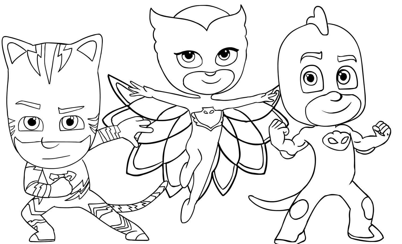 Imagem do PJ Masks para colorir