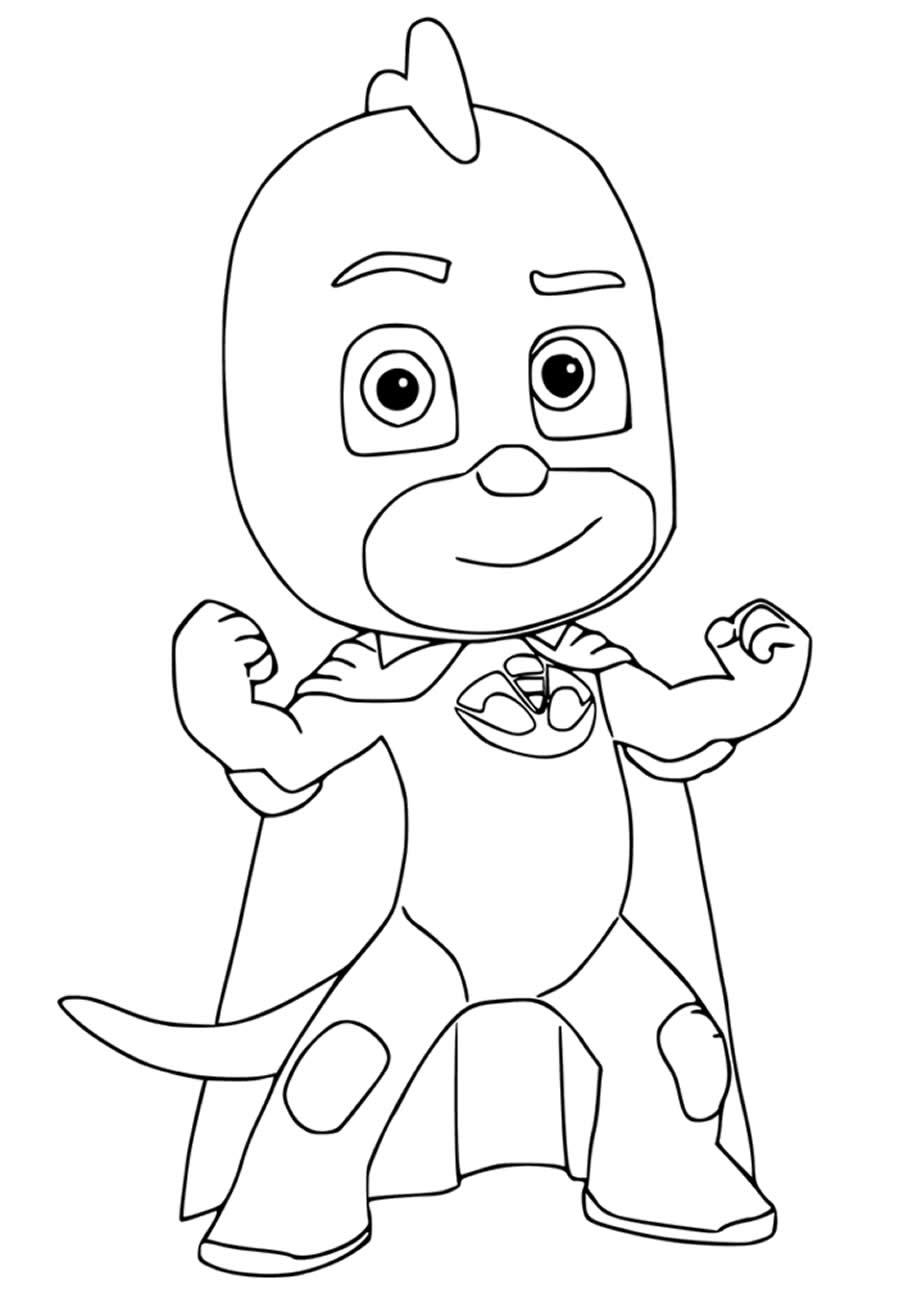 Desenho do PJ Masks para colorir