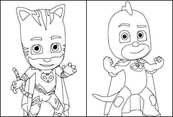 Desenhos de PJ Masks para imprimir e colorir