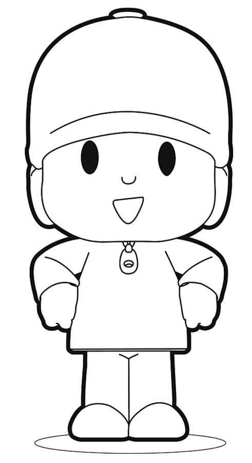 Desenho de Pocoyo para pintar