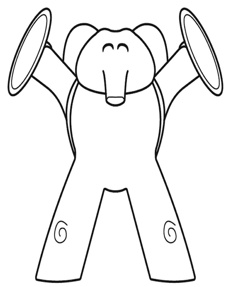 Desenho de Pocoyo para colorir